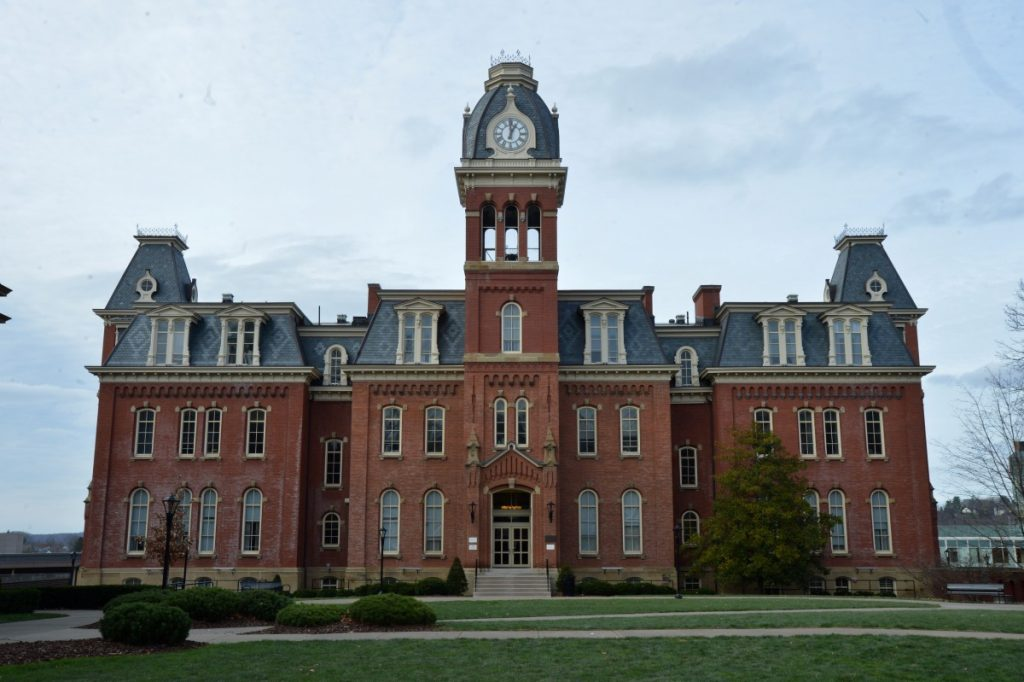 front of Woodburn Hall
