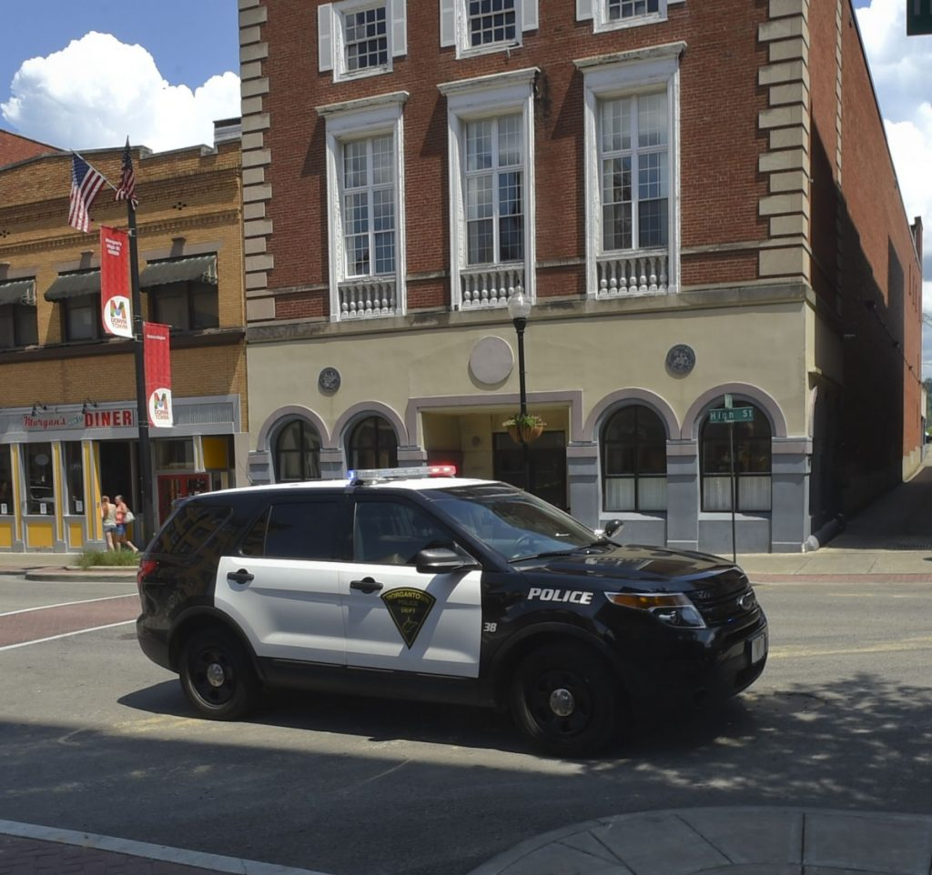Morgantown police car downtown
