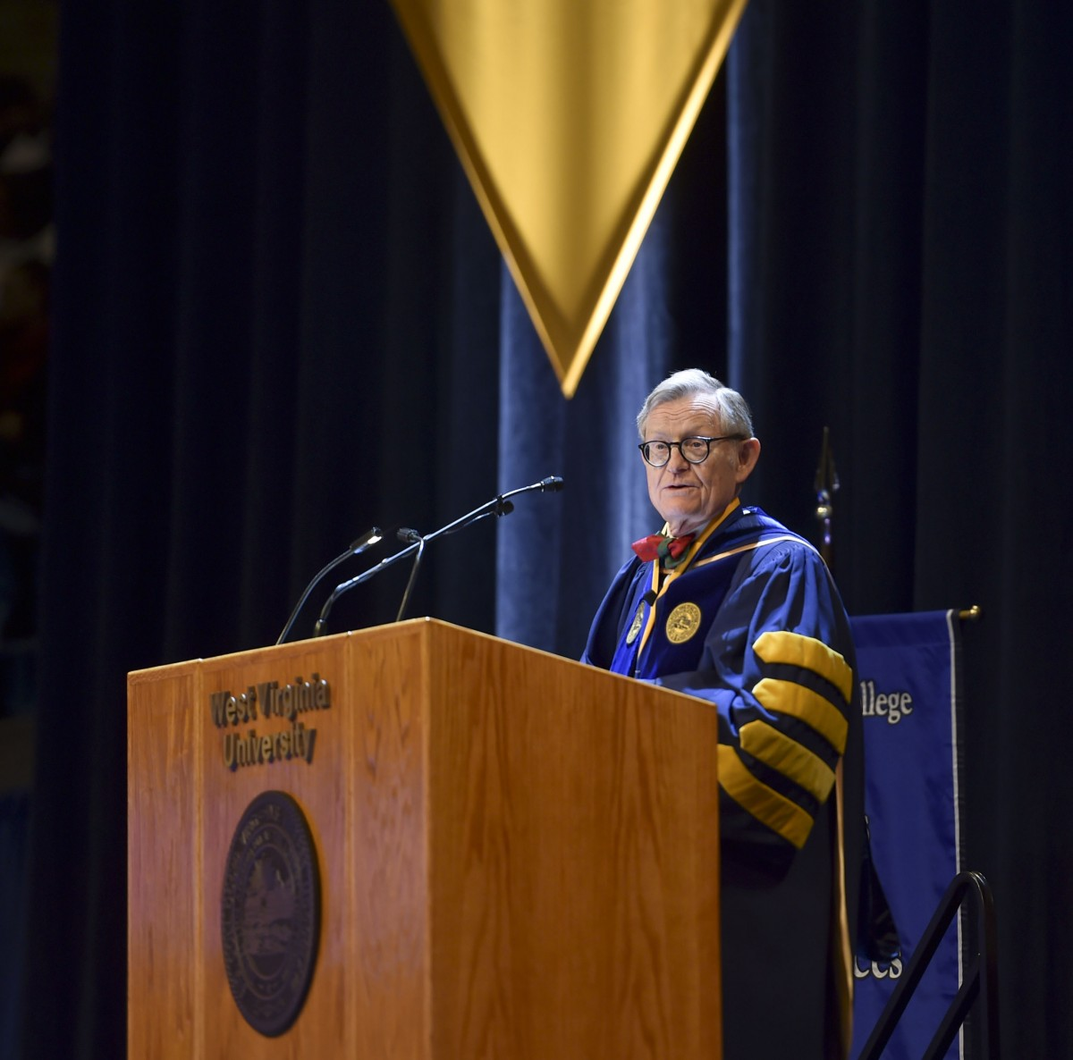 gee at 2018 commencement