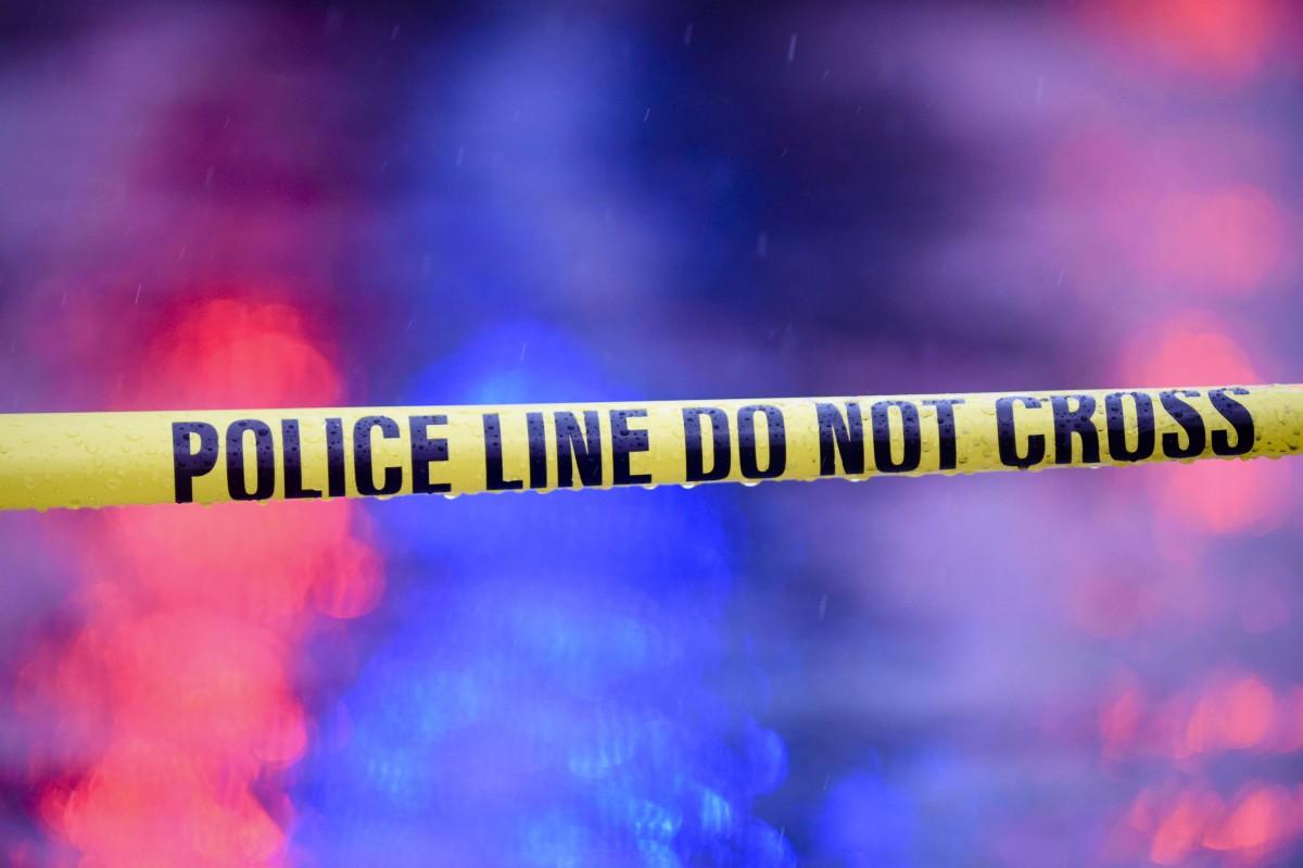 police lights shooting