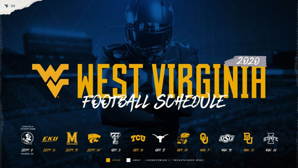 Badger Football Schedule 2020.Wvu 2020 Football Schedule Schedule 2020 Hermanbroodfilm