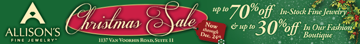 Allison's Fine Jewelry Christmas Sale