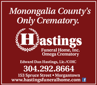 Hastings Funeral Home ad. Links to website.