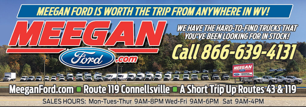 Meegan Ford Advertisement. Click to view website.