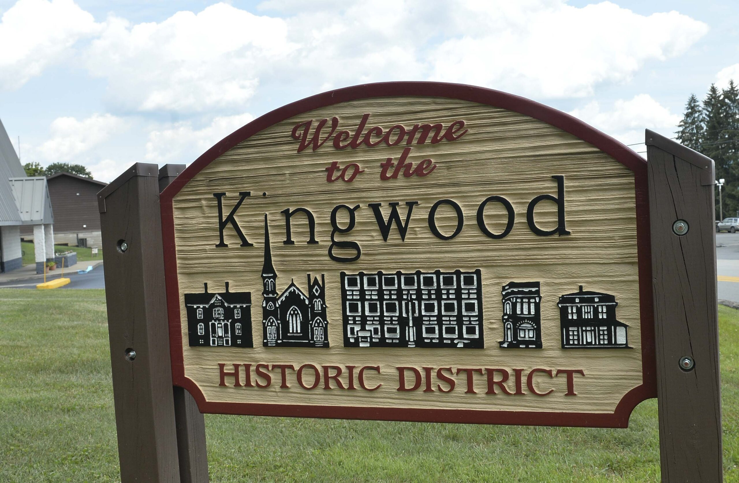 Welcome signs in Kingwood.