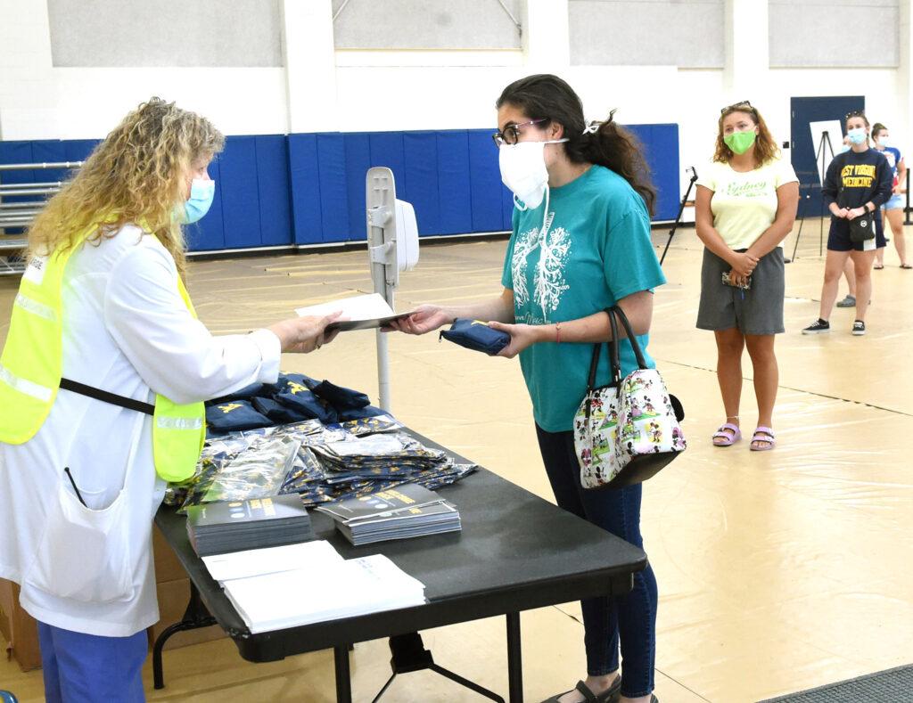 student testing at WVU Rec Center
