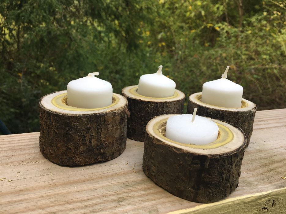 diy wooden candle holders