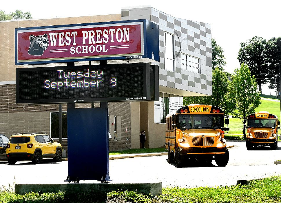 school busses at west preston