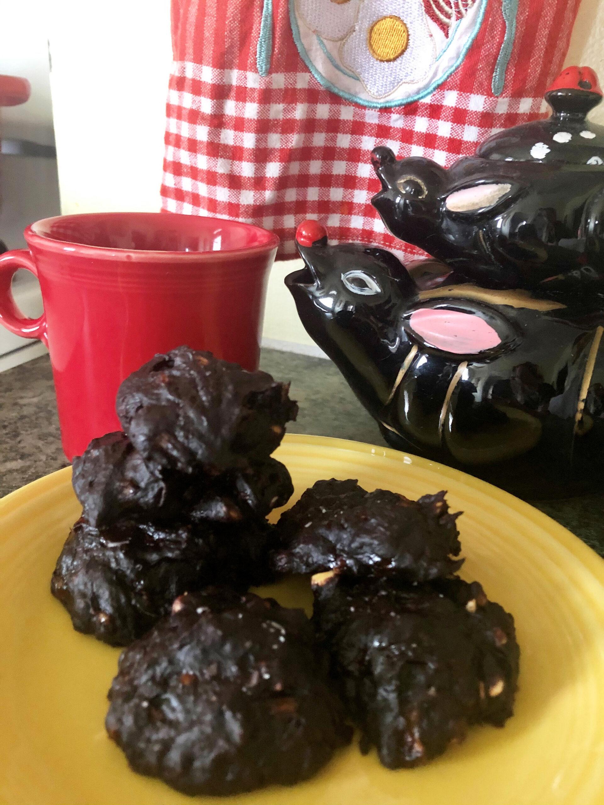 fudgy three ingredient cookies