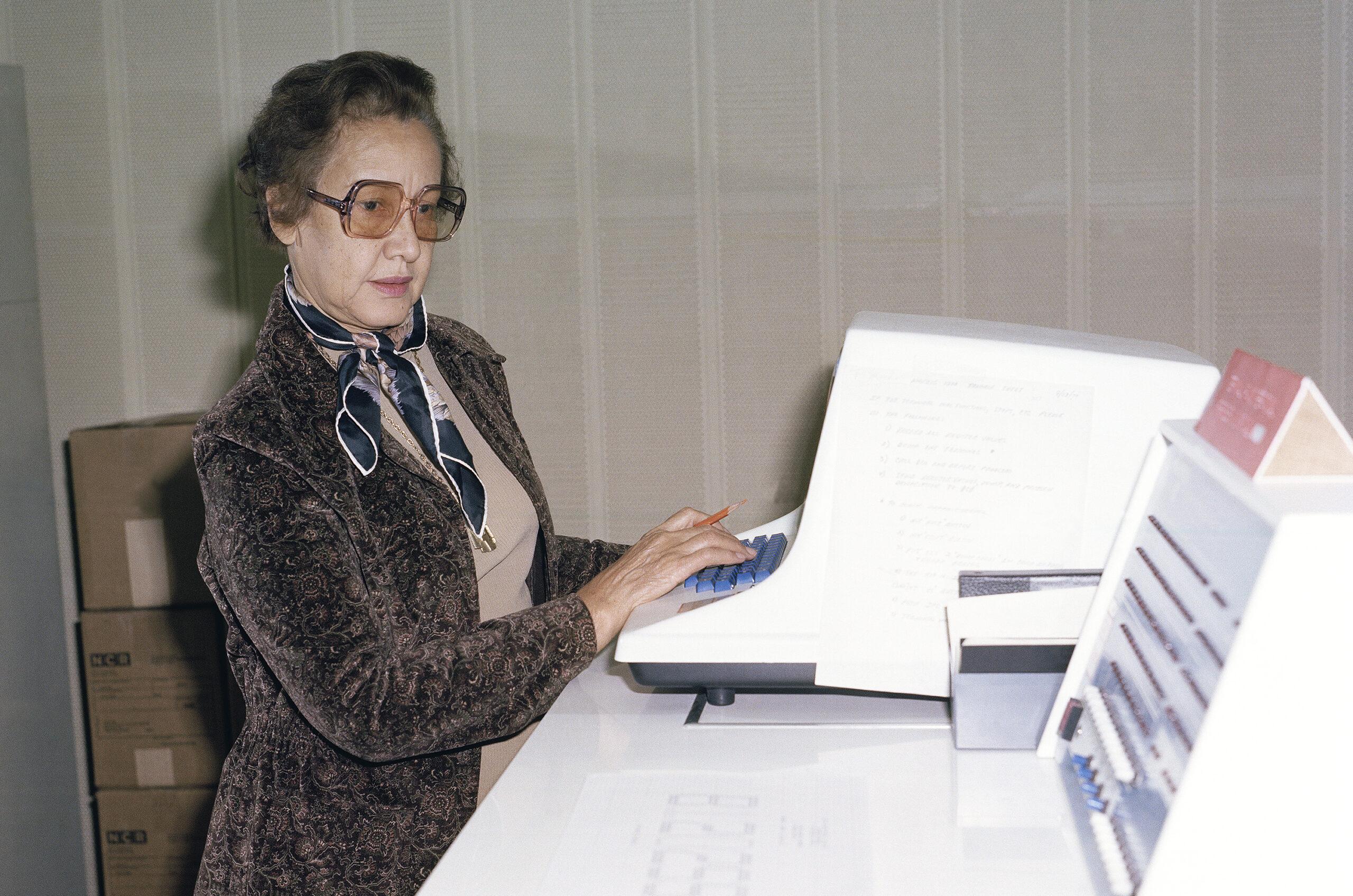 Katherine Johnson at NASA in 1980