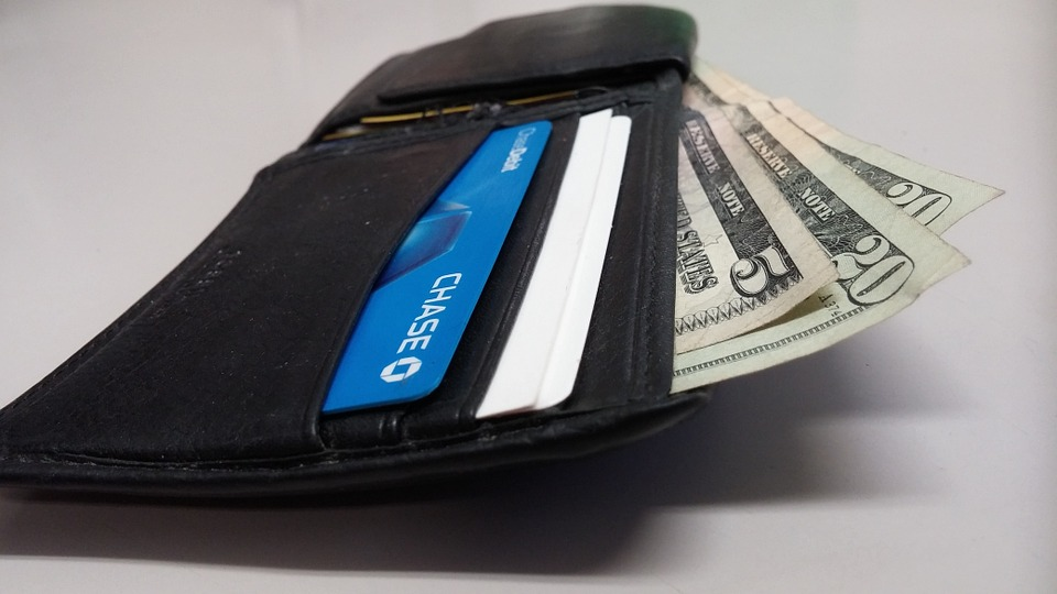 stock image of a wallet