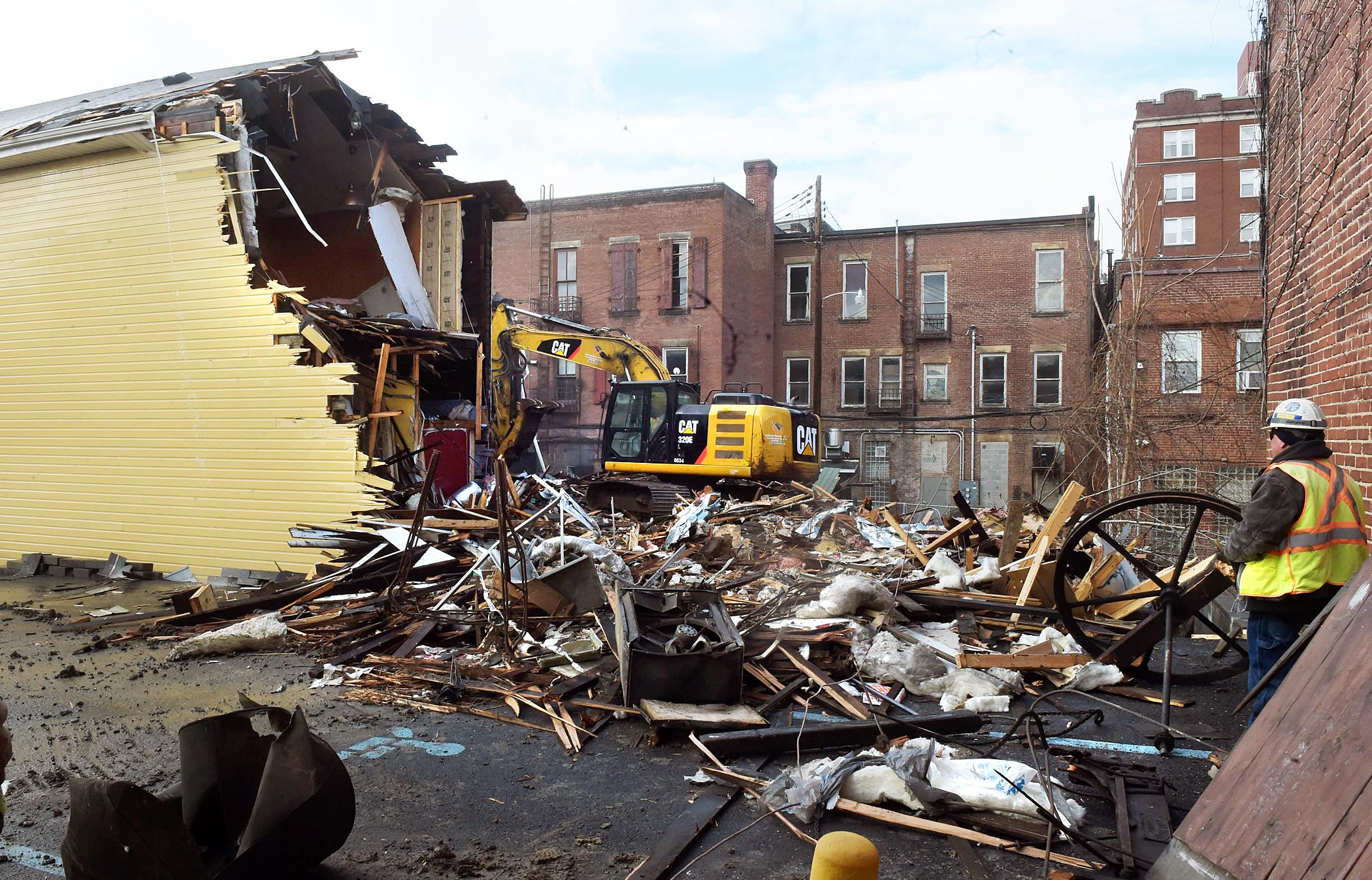 Pleasant Street demolition