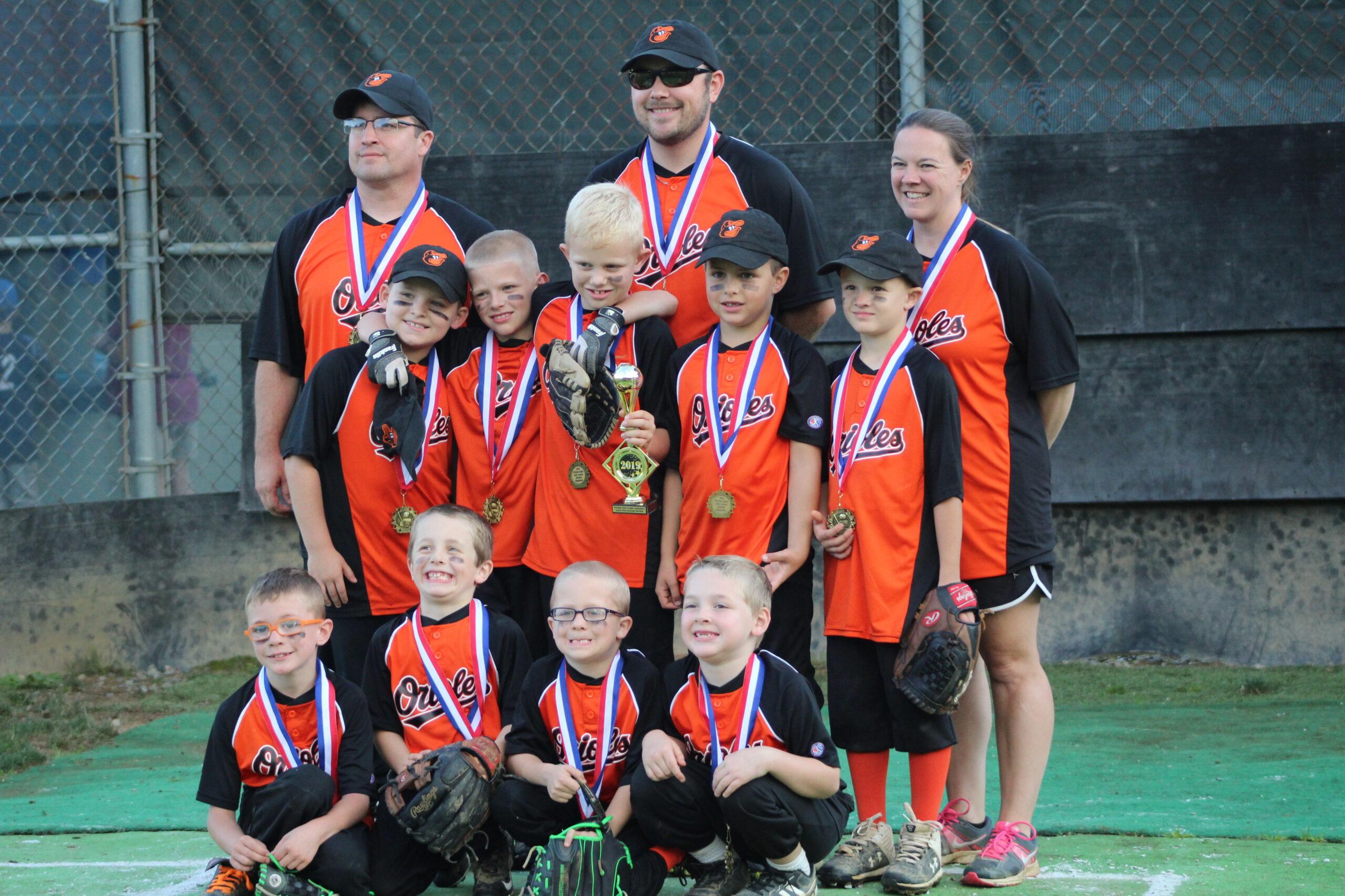 Preston Little League Orioles team